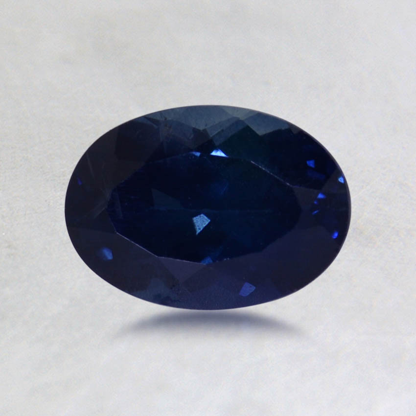 7x5mm Blue Oval Sapphire, top view