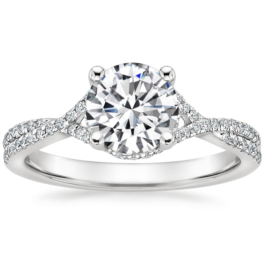 Round Split Shank Diamond Ring