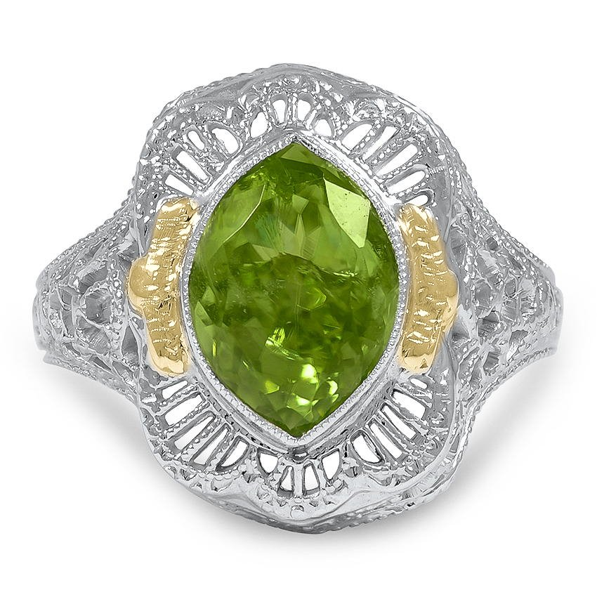 Edwardian Peridot Cocktail Ring