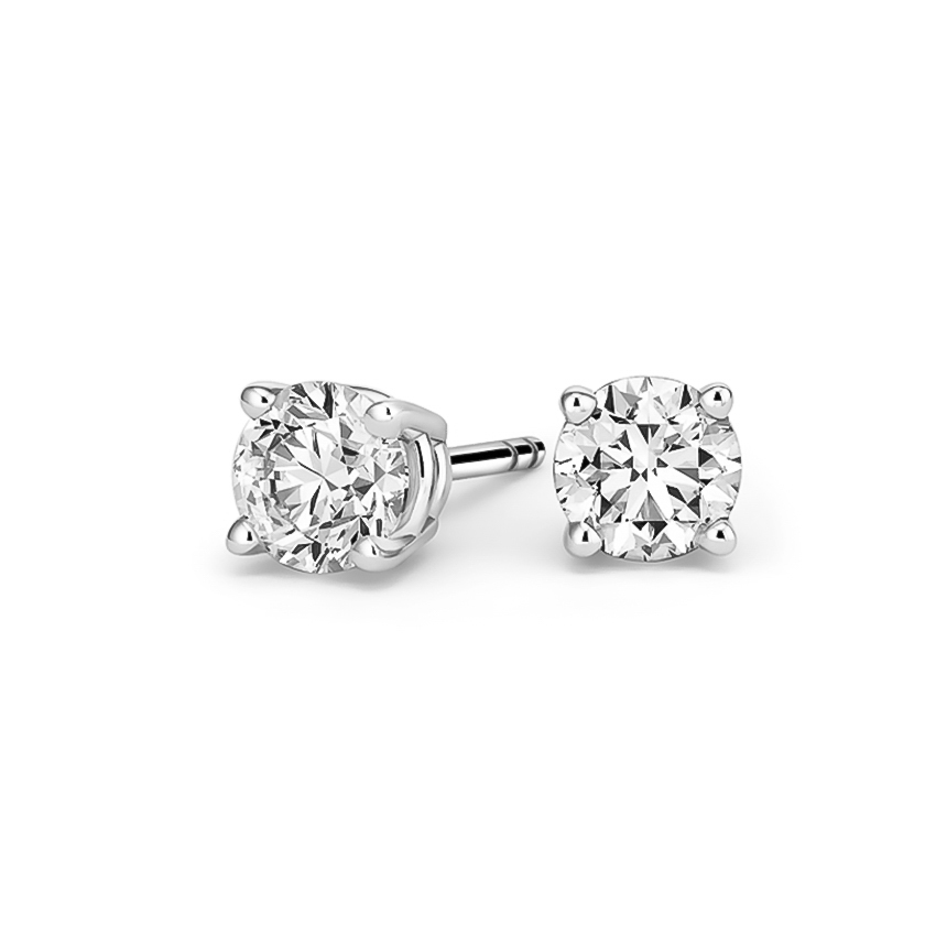 Round Diamond Stud Earrings (1 1/2 ct. tw.) in 18K White Gold