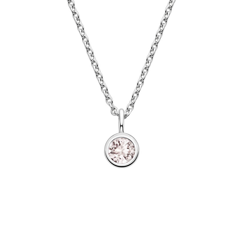 Bezel Morganite Necklace