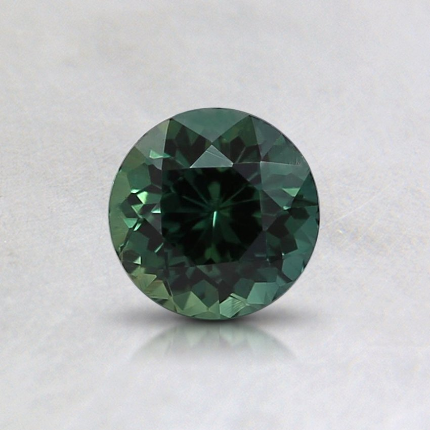 5mm Unheated Teal Round Sapphire