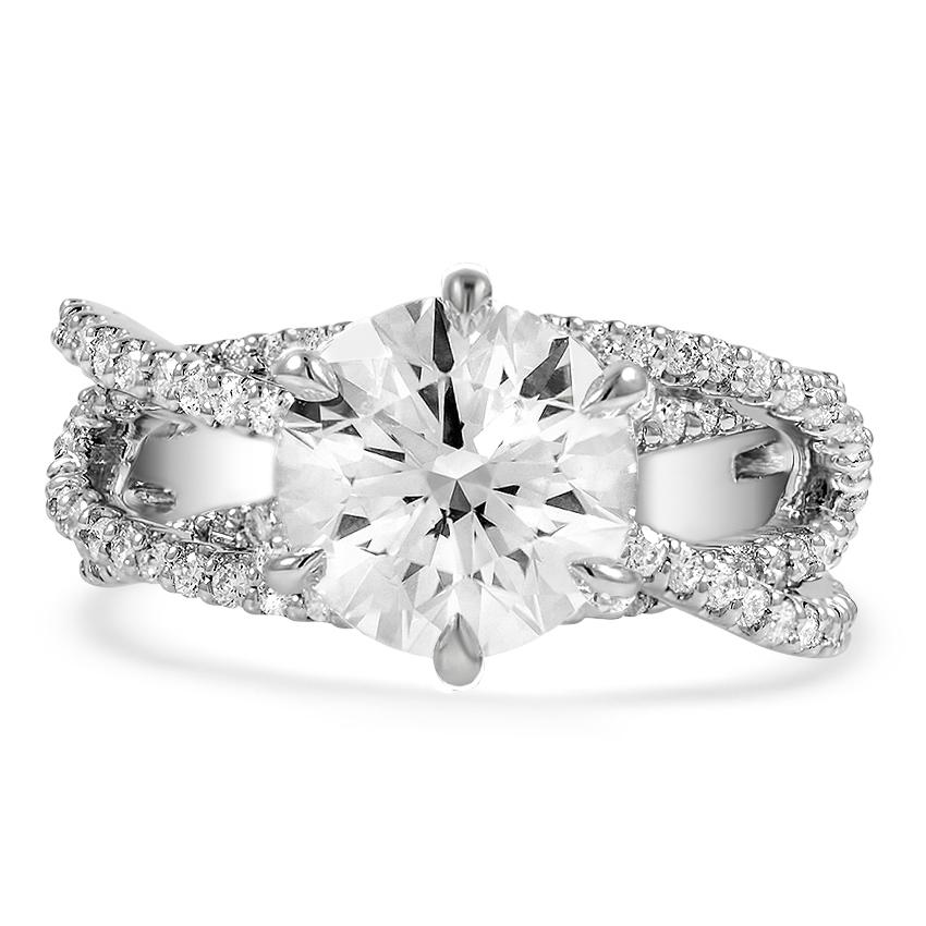 Custom Entwined Strand Diamond Ring | Brilliant Earth