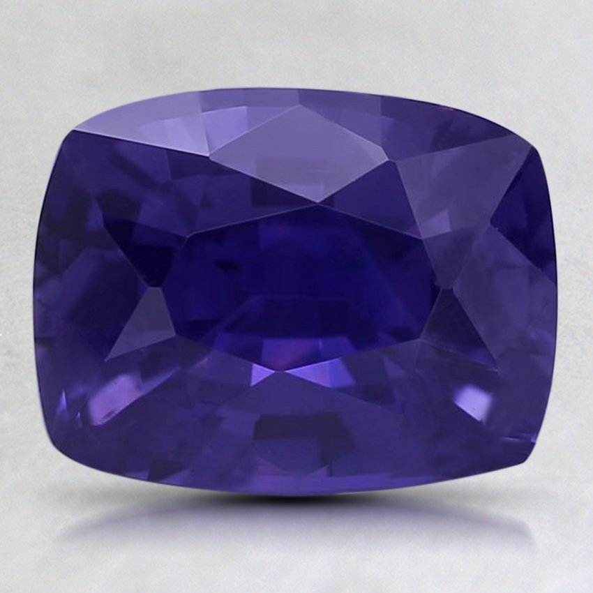 9x7mm Color Change Cushion Sapphire, top view