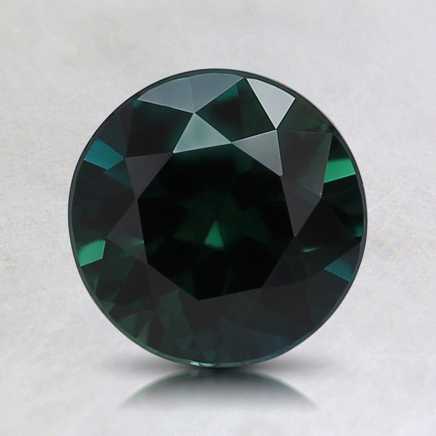 7.3mm Teal Round Sapphire