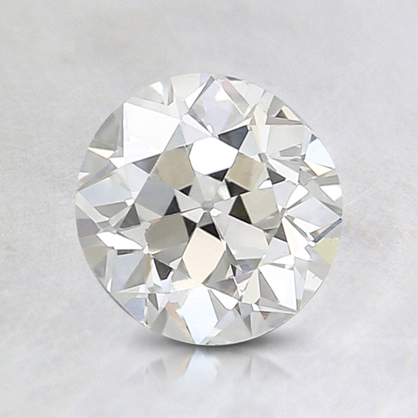 0.56 Carat, J Color, VS1 Clarity, Round Old European Cut Diamond