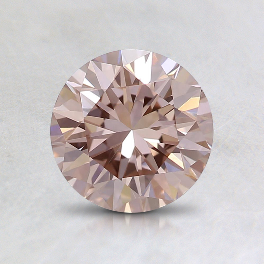 1.01 Ct. Lab Created  Fancy Brownish Pink Round Diamond