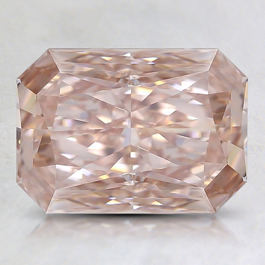 2.01 Ct. Fancy Orangy Pink Radiant Lab Created Diamond