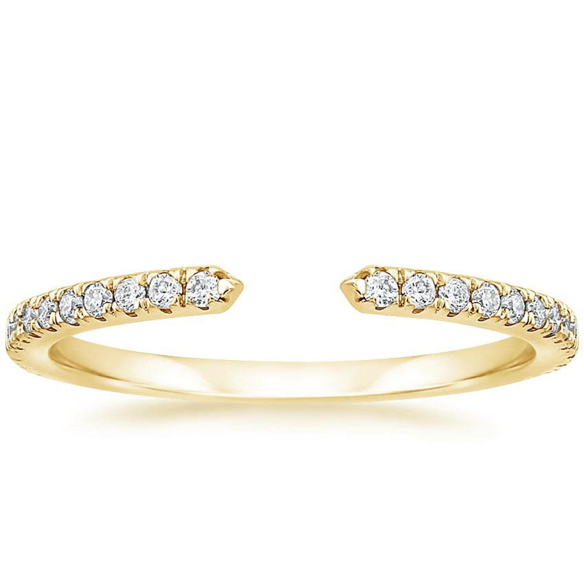 Yellow Gold Open Diamond Wedding Ring