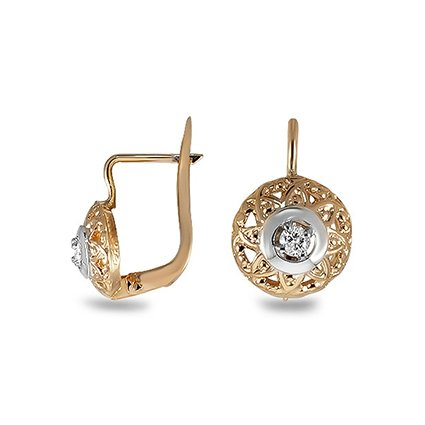 The Kevia Earrings, top view