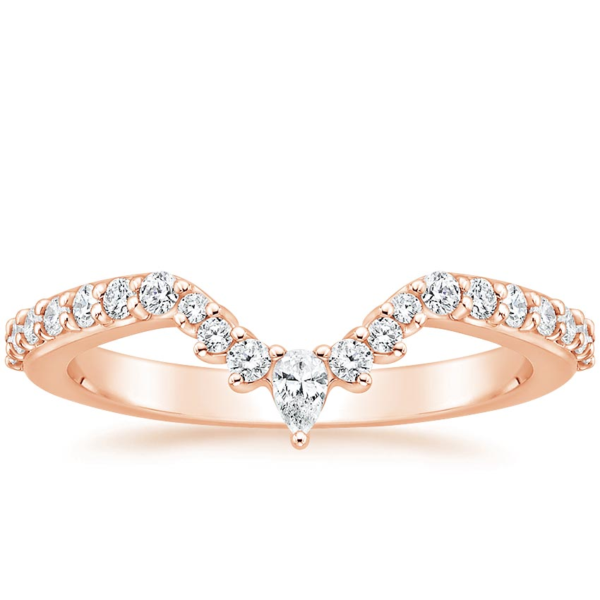 Rose Gold Luxe Lunette Diamond Ring (1/3 ct. tw.)