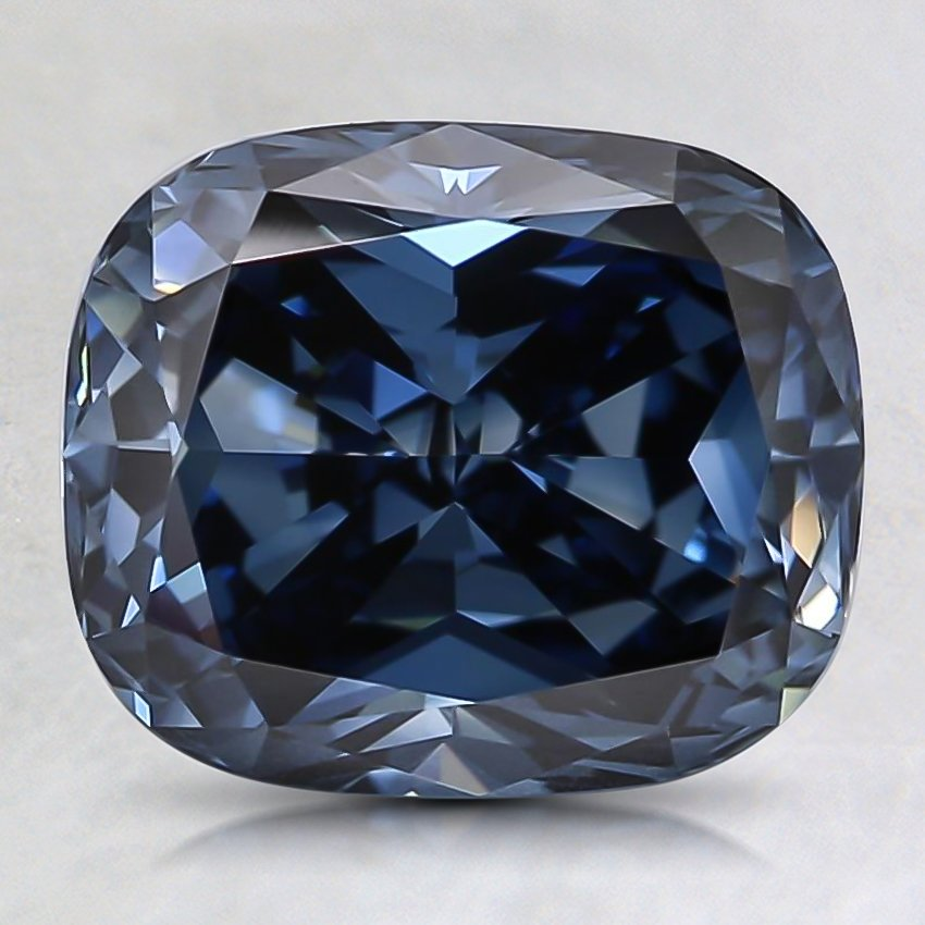 2.32 Ct. Fancy Deep Blue Cushion Lab Created Diamond