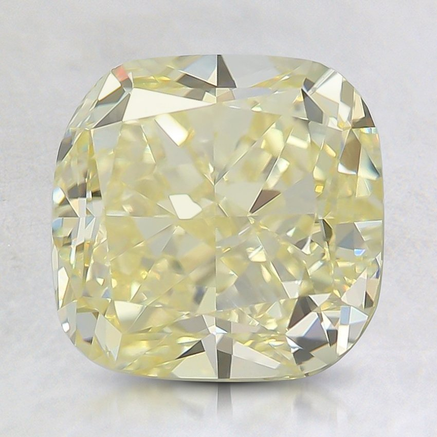 3.04 Ct. Fancy Yellow Cushion Diamond