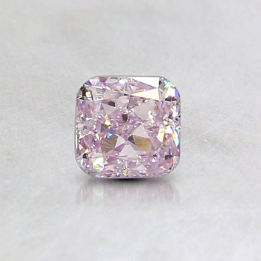 0.33 Ct. Natural Fancy Pink Purple Cushion Diamond, top view