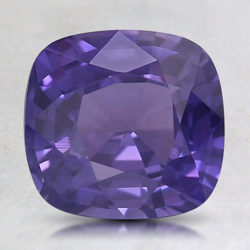 8.1x7.6mm Premium Purple Cushion Sapphire, top view