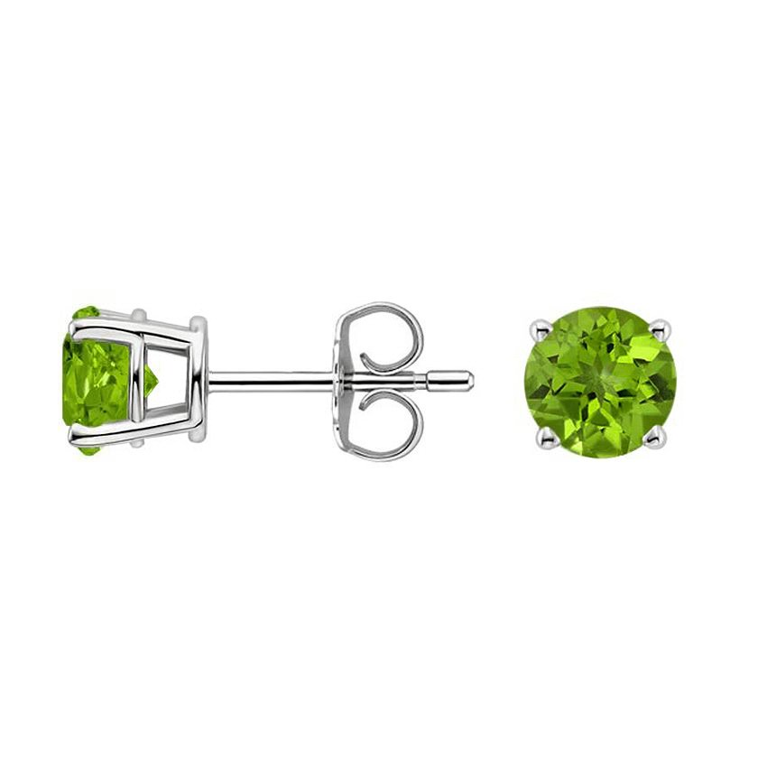 studs peridot halo diamond stud cushion earrings