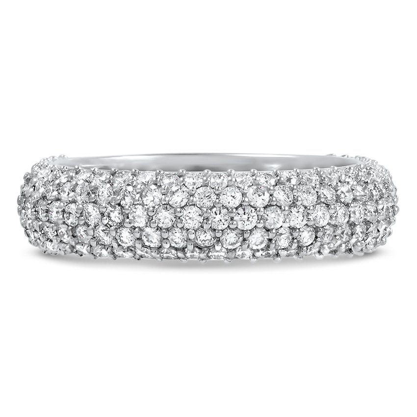 Custom Multi-Row Pavé Set Wedding Band