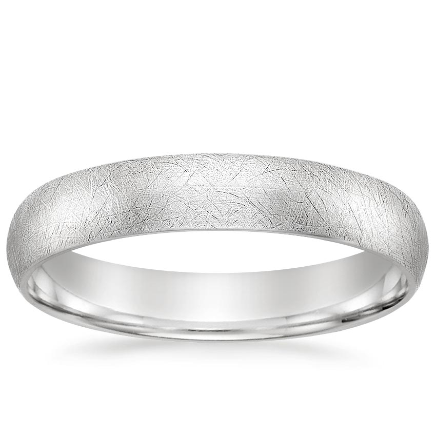 4mm Ice Finish Comfort Fit Wedding Ring in Platinum