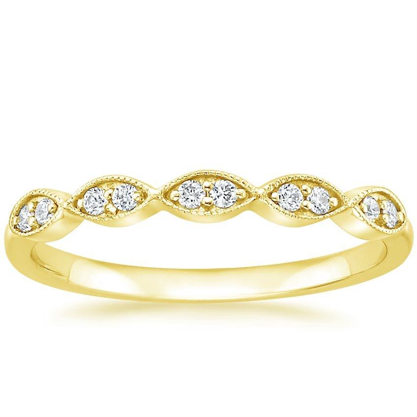 cadenza diamond ring 110 ct tw in 18k yellow gold