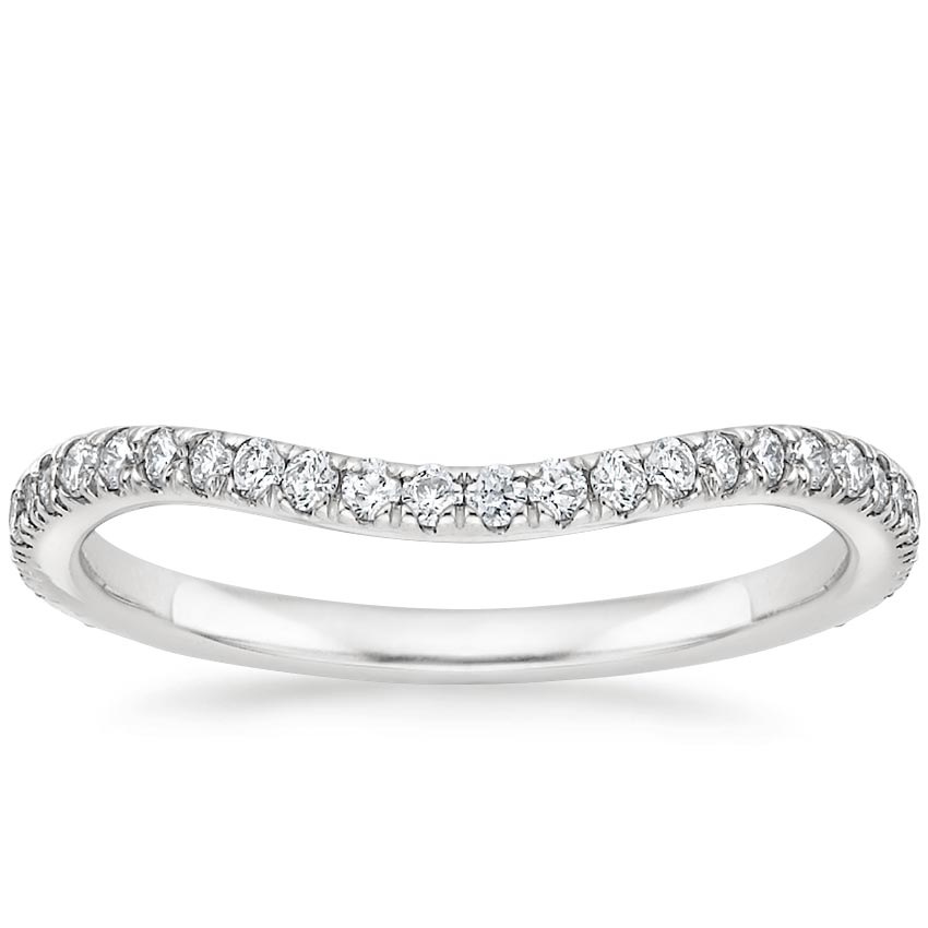 Ava Contoured Diamond Wedding Ring