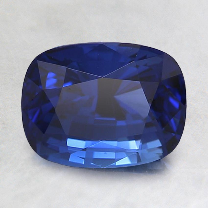 8x6mm Premium Royal Blue Cushion Sapphire