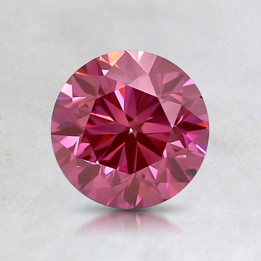 1.00 Ct. Fancy Vivid Pink Round Lab Created Diamond