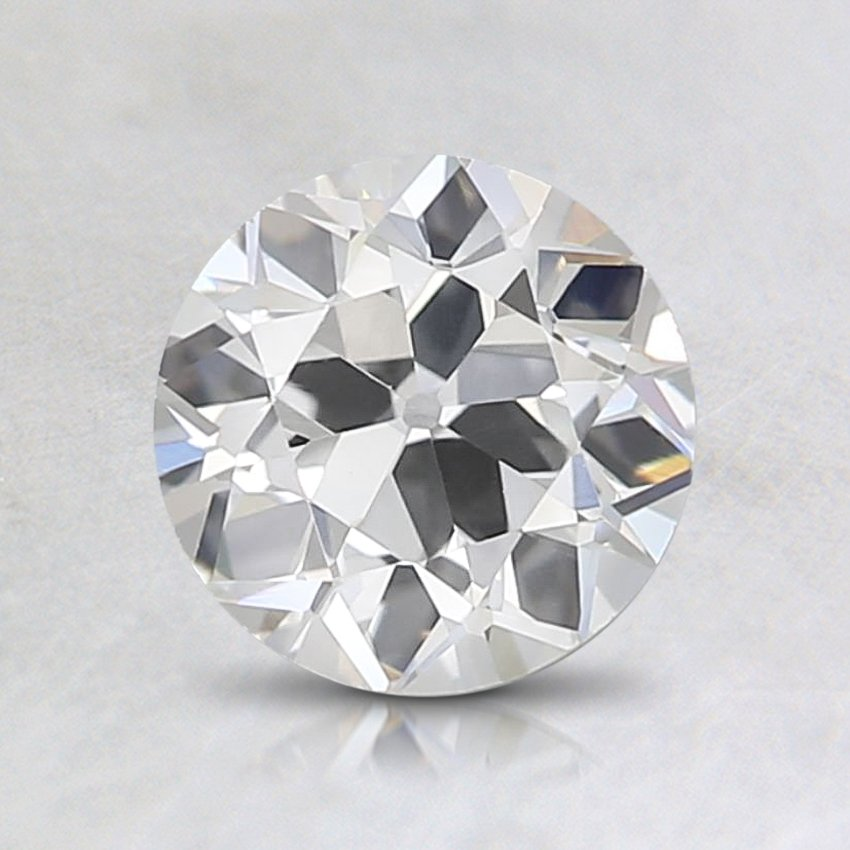 0.59 Carat, I Color, VVS2 Clarity, Round Old European Cut Diamond, top view