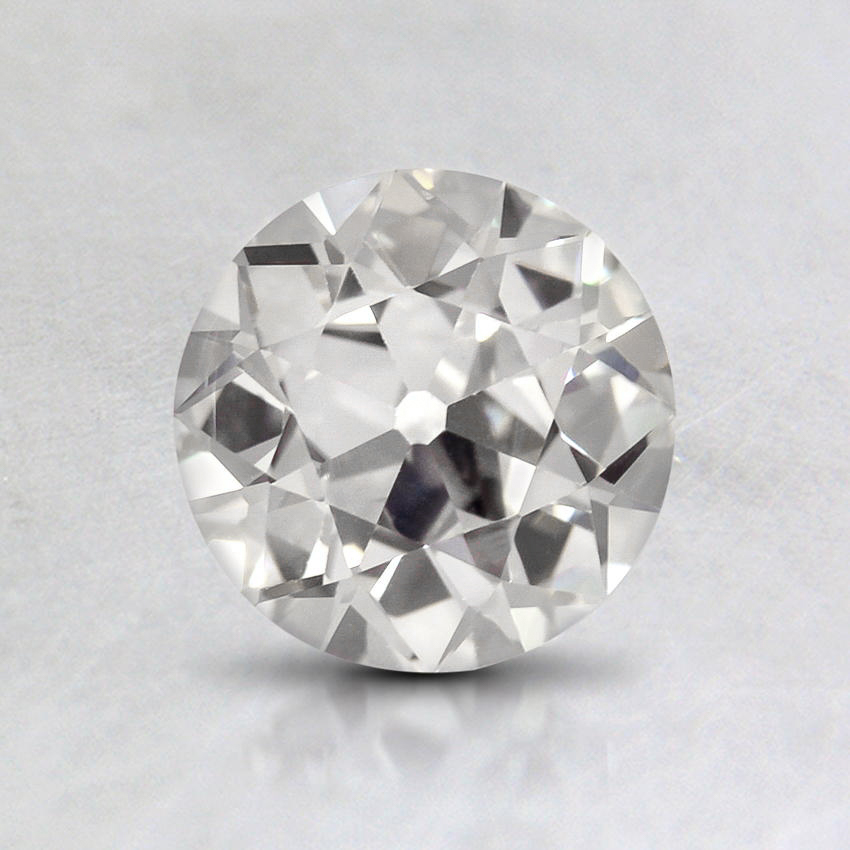 0.92 Carat, F Color, VS2 Clarity, Round Old European Cut Diamond