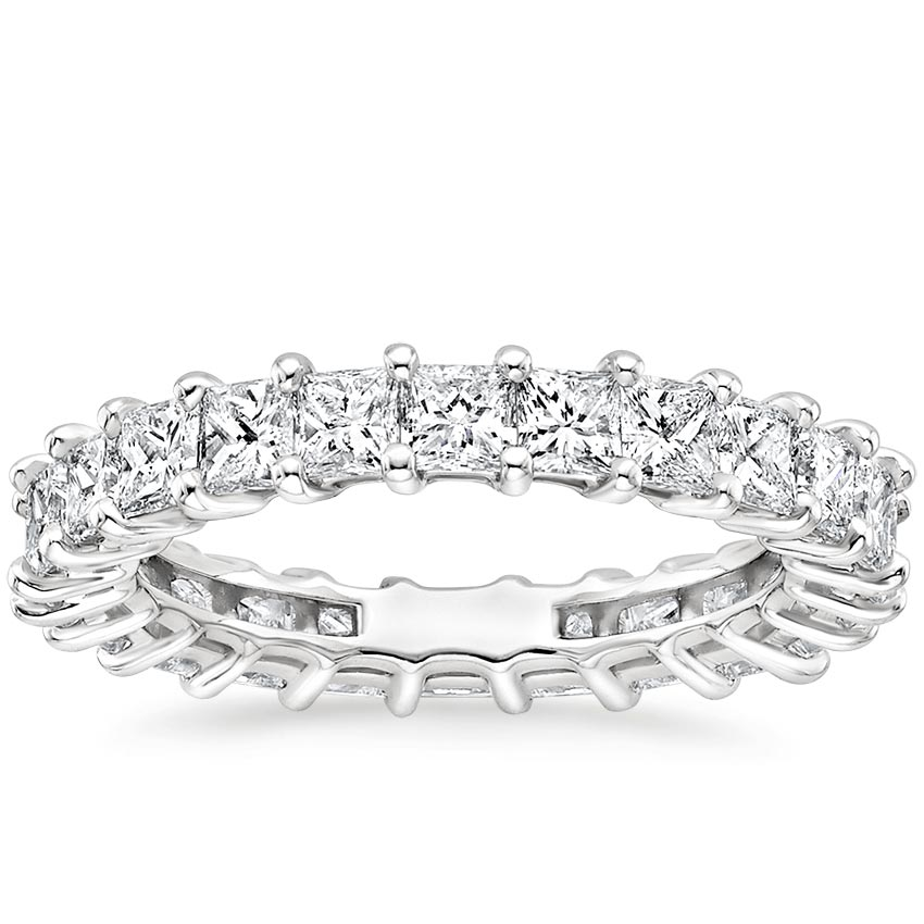 Princess Eternity Diamond Ring (3 ct. tw.) in 18K White Gold