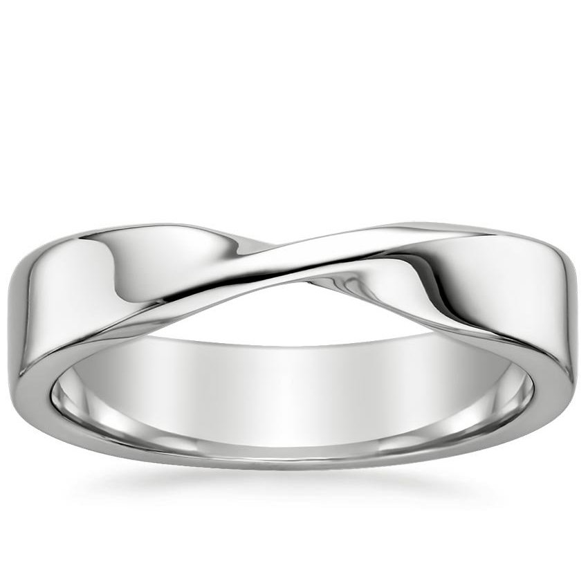 Mobius Wedding Ring in Platinum