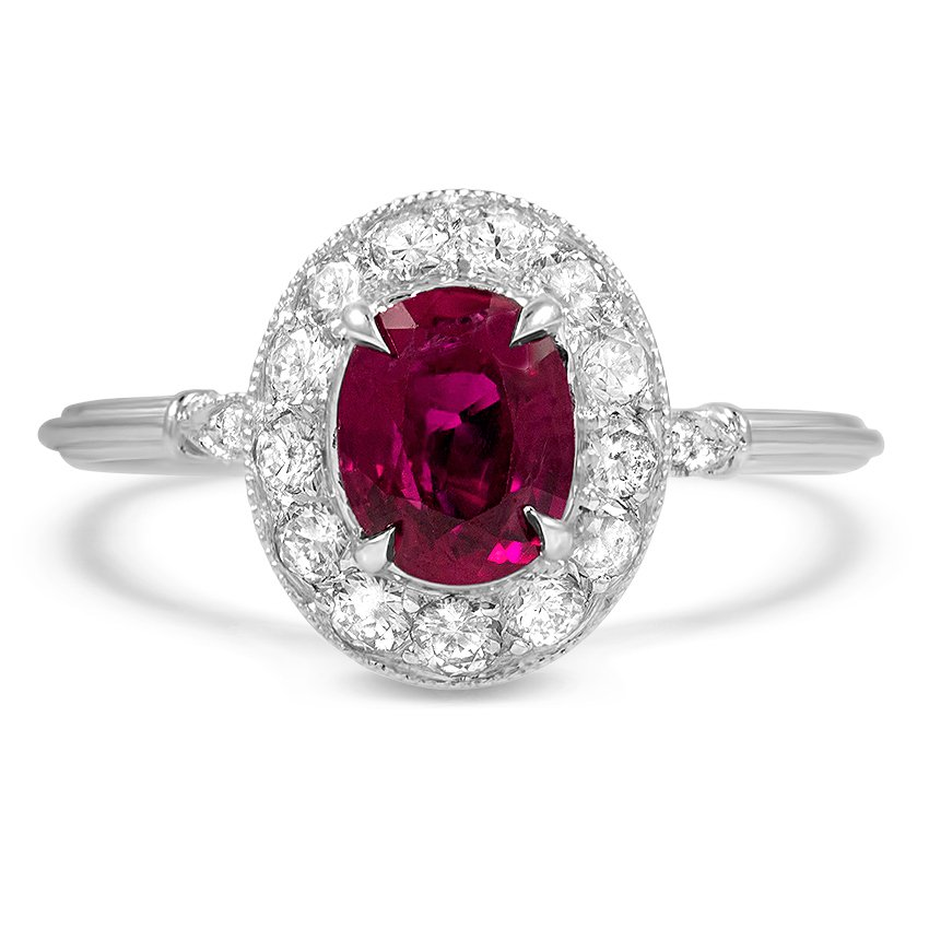 Art Deco Reproduction Ruby Vintage Ring