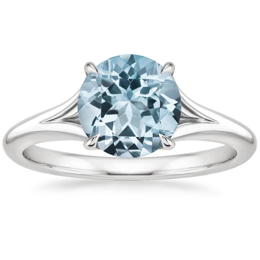 Aquamarine Reverie Ring in 18K White Gold