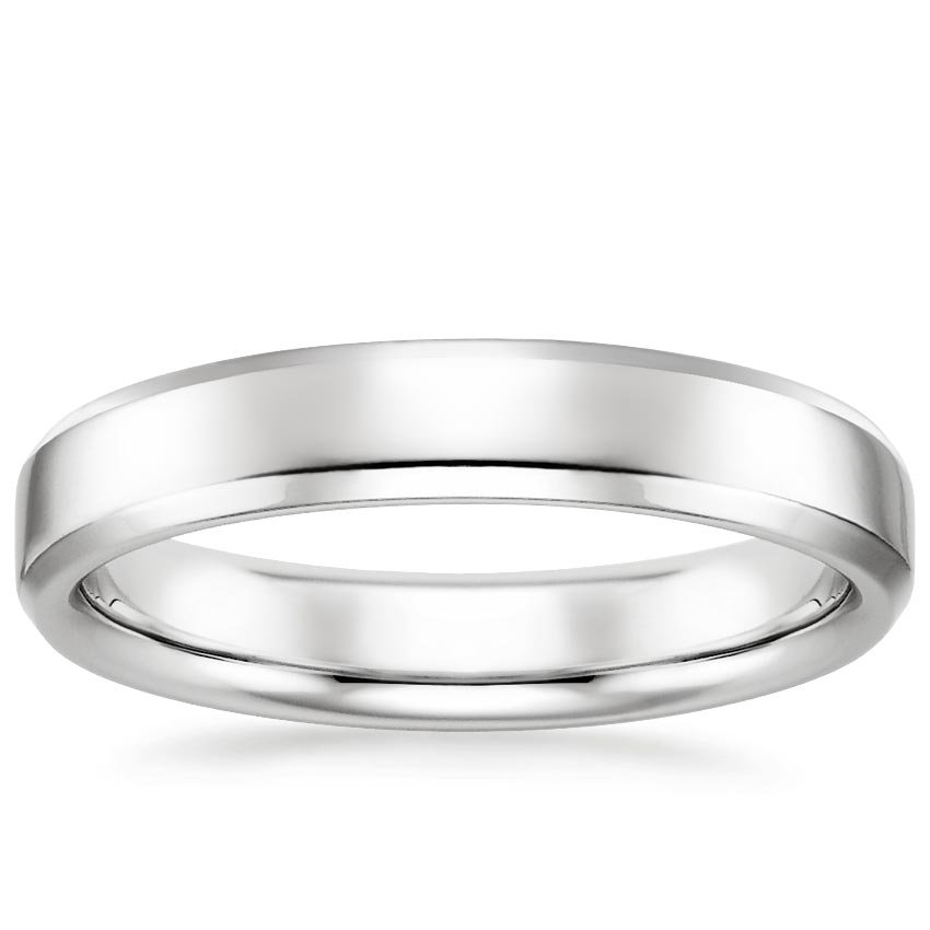 4mm Tiburon Wedding Ring in Platinum