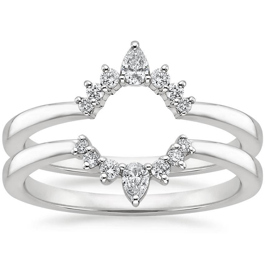 Lunette Nested Diamond Ring Stack