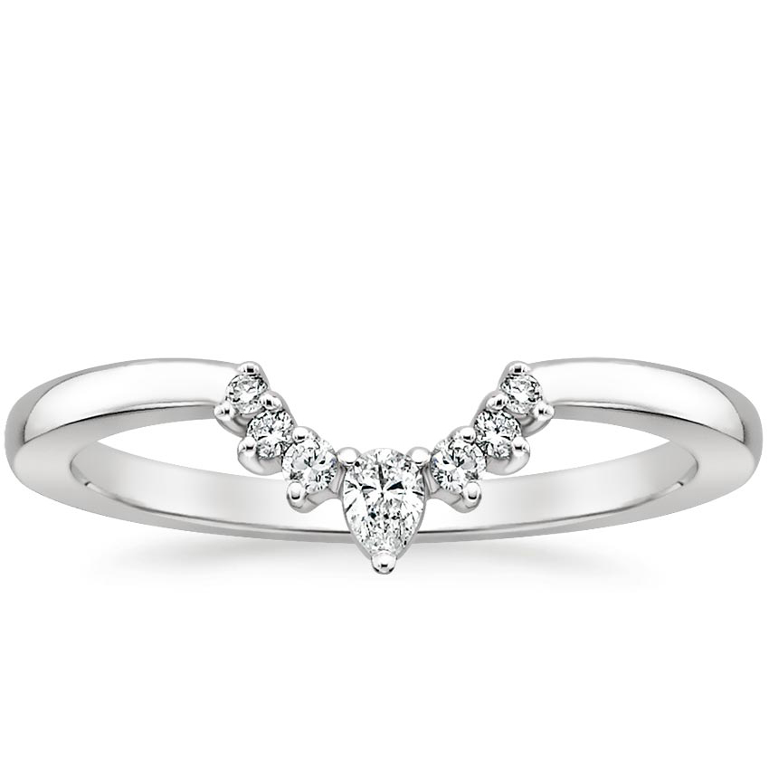 Lunette Diamond Ring in Platinum