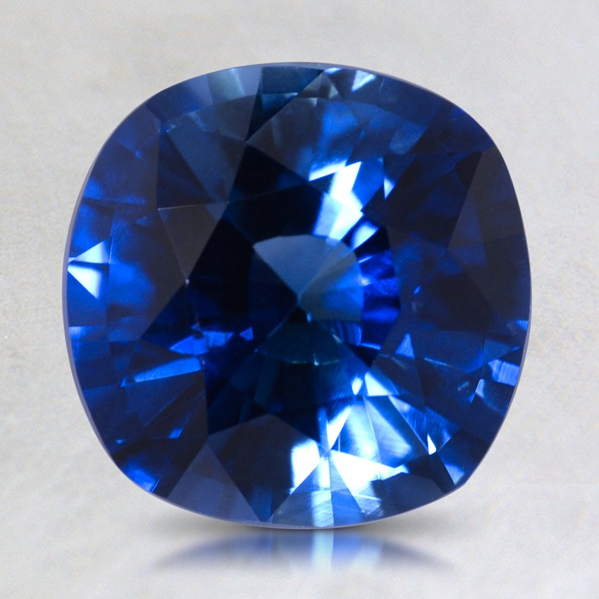 8mm Super Premium Blue Cushion Sapphire