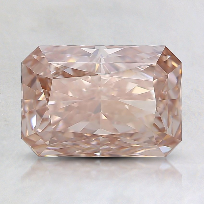 1.50 Ct. Fancy Brownish Pink Radiant Lab Created Diamond