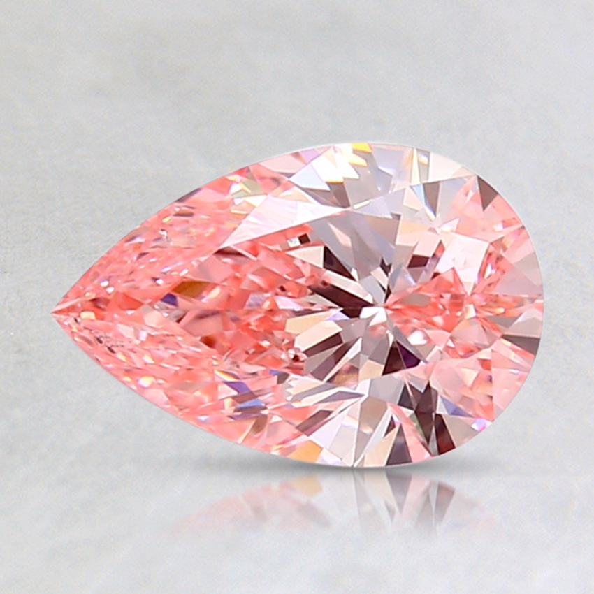 1.50 Ct. Fancy Intense Pink Pear Lab Created Diamond
