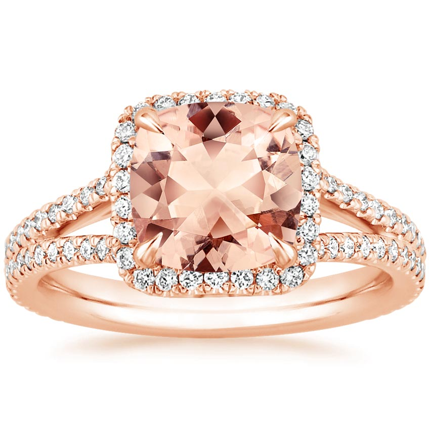 Rose Gold Morganite Fortuna Ring