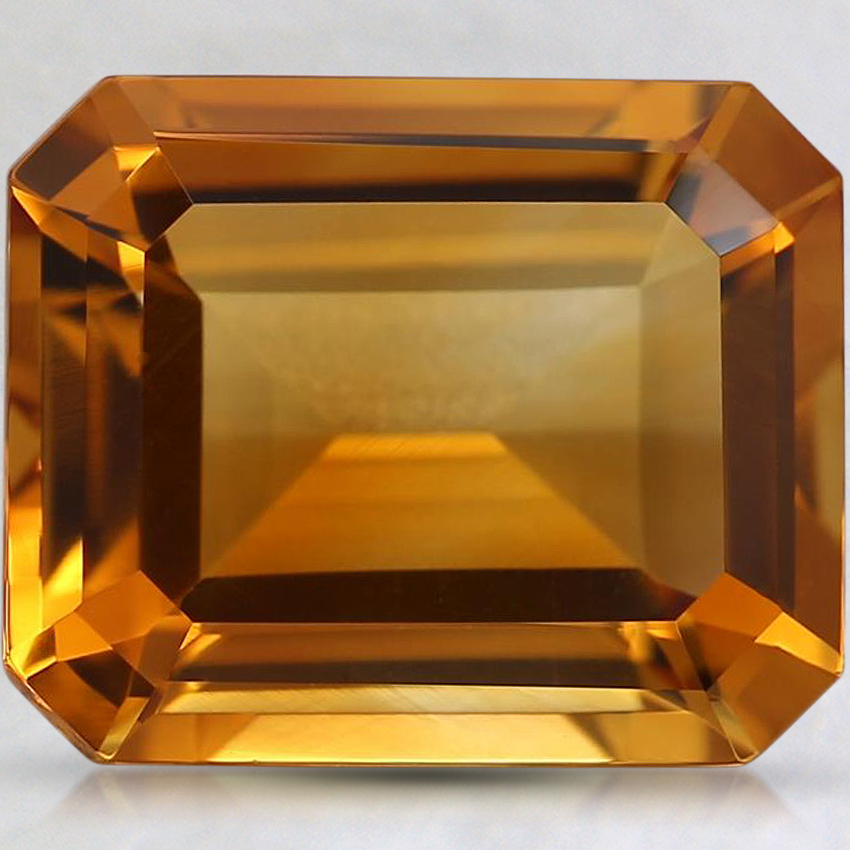 11x9mm Orange Emerald Citrine