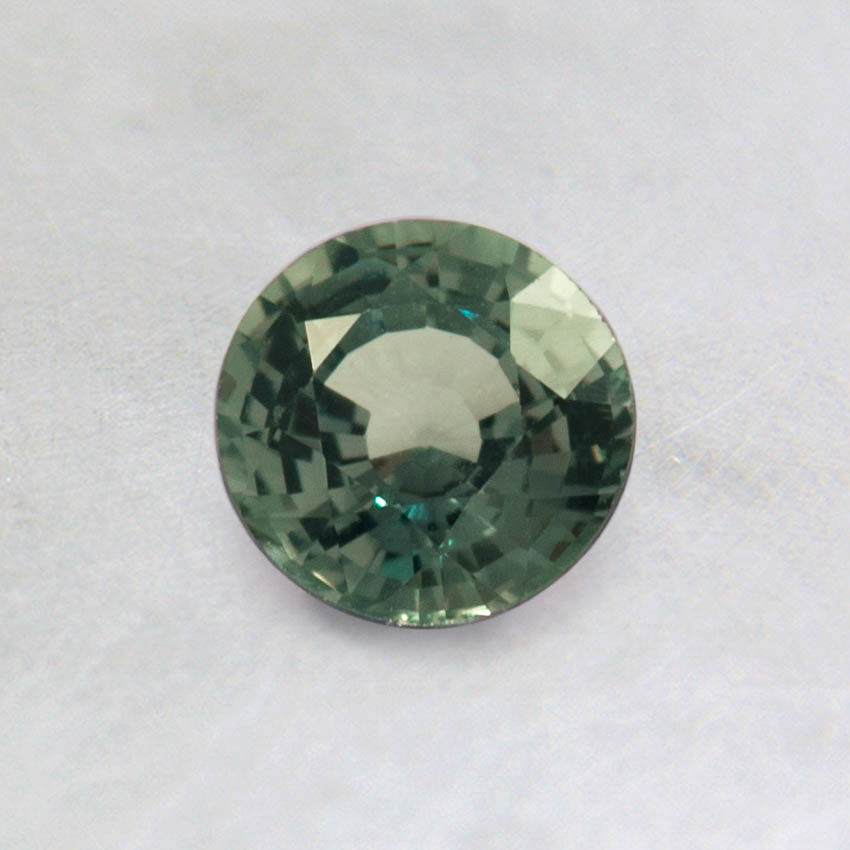 5mm Green Round Sapphire, top view