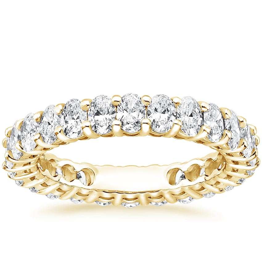Yellow Gold Oval Eternity Diamond Ring (2 ct. tw.)
