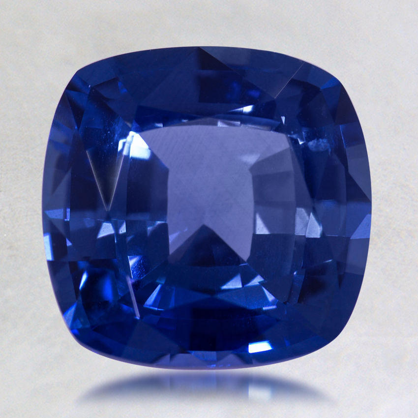 8mm Blue Cushion Sapphire, top view