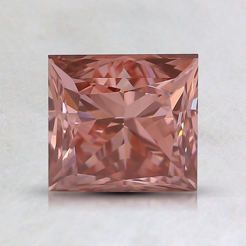 1.62 Ct. Fancy Vivid Pink Princess Lab Created Diamond