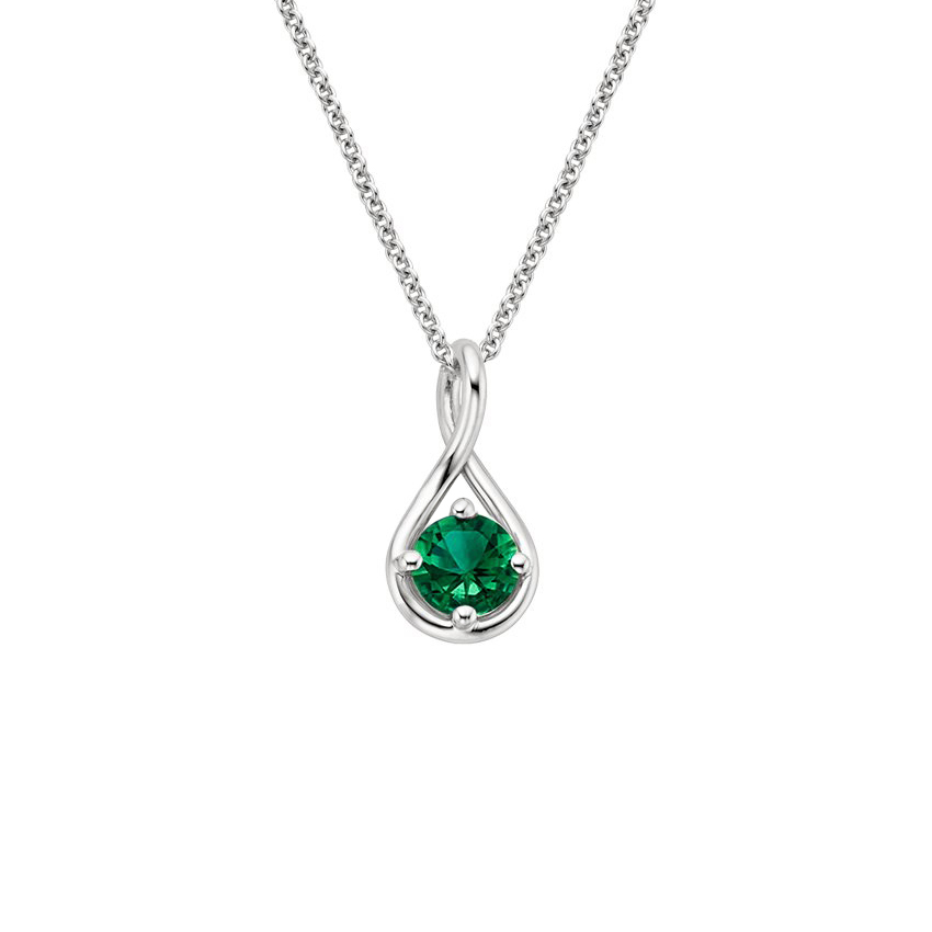 Top Twenty Anniversary Gifts - EMERALD TWIST PENDANT