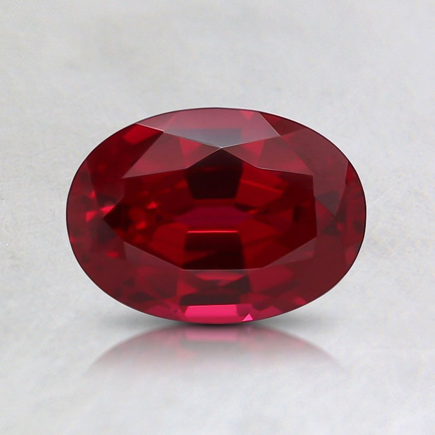 7x5mm Oval Lab Created Ruby