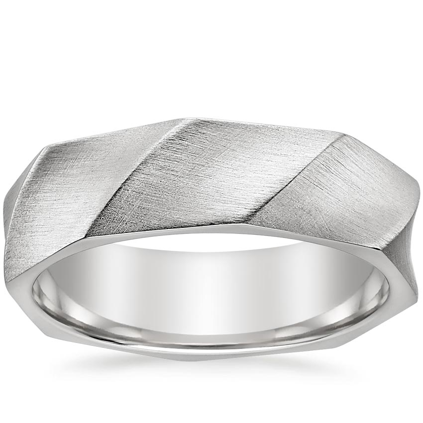 Matte Faceted Men's Ring