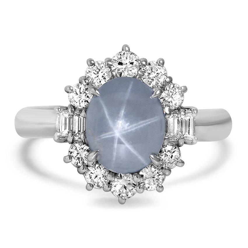 Modern Sapphire Vintage Ring Hobbs Brilliant Earth