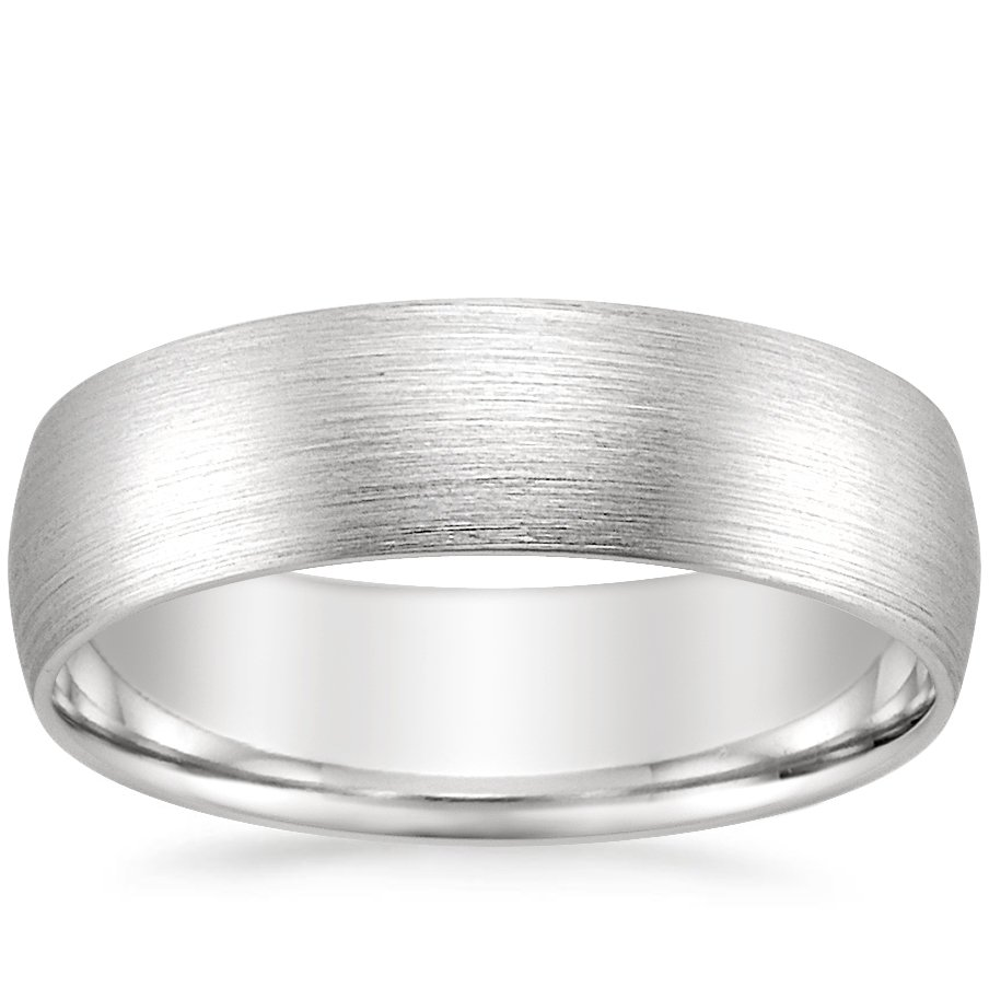6mm Matte Comfort Fit Wedding Ring in Palladium