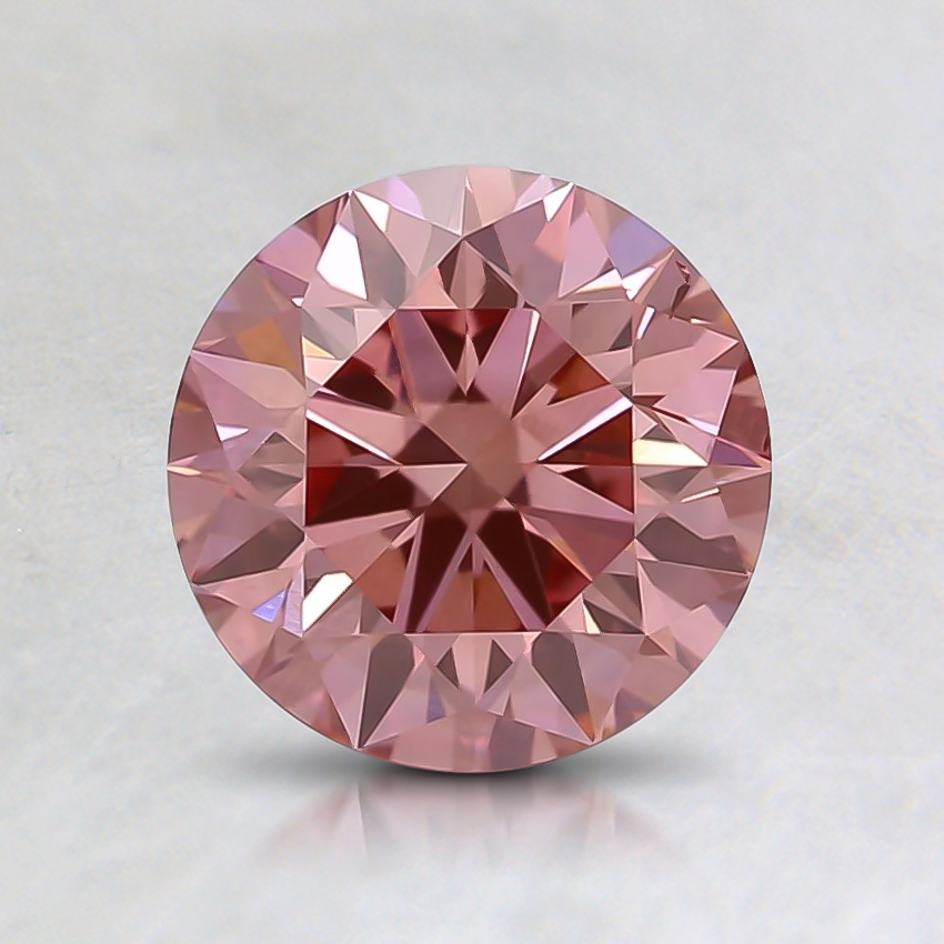 1.11 Ct. Fancy Intense Pink Round Lab Created Diamond